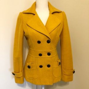 Forever 21 yellow peacoat